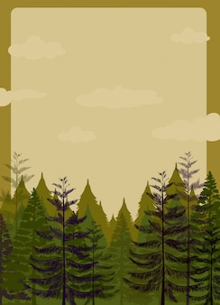 Projekt granicy z lasu sosnowego