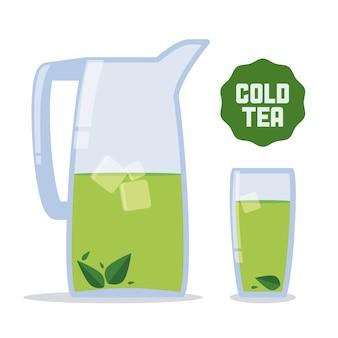 Projekt herbaty na białym tle ilustracji wektorowych