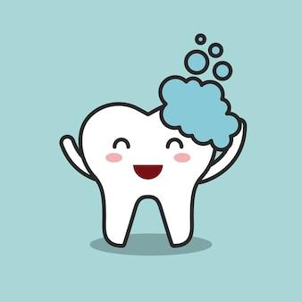 Projekt higieny jamy ustnej, ilustracji wektorowych eps10 grafiki