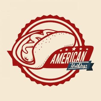 Projekt Hot Doga Premium Wektorów