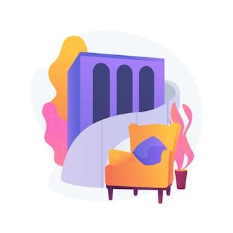 Projekt hotelu streszczenie ilustracja koncepcja