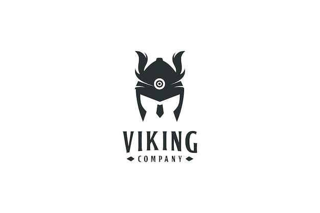 Projekt i symbol logo wojownika wikingów