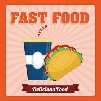 Projekt ikona fast food