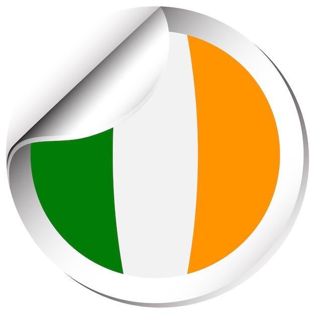 Projekt ikony flagi dla irlandii