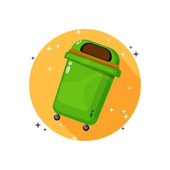 Projekt ikony kosza na śmieci
