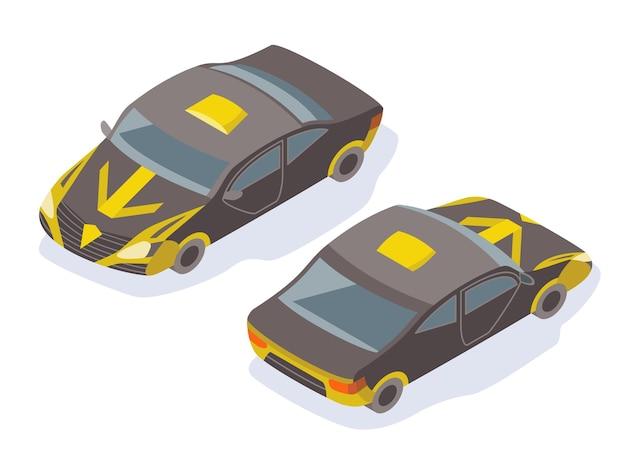 Projekt ikony nowoczesny samochód izometryczny