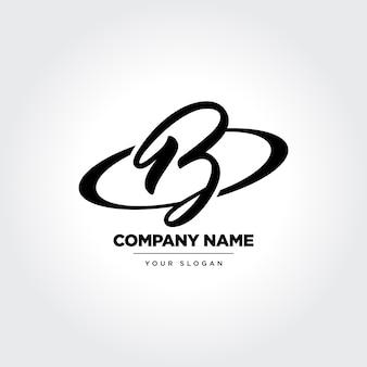 Projekt ikony w stylu litery b elegan