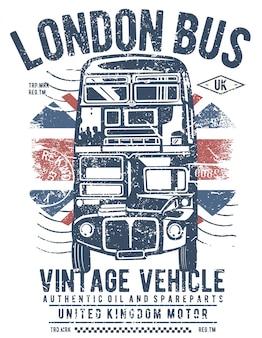 Projekt ilustracja autobus londyn
