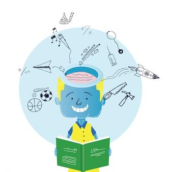 Projekt Ilustracja Dzieci Premium Wektorów