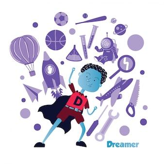 Projekt ilustracja dzieci