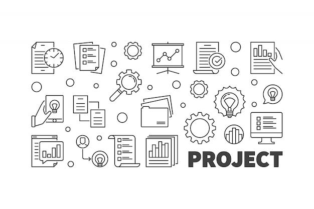 Projekt ilustracja koncepcja wektor zarys