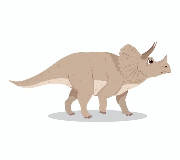 Projekt ilustracja kreskówka triceratops