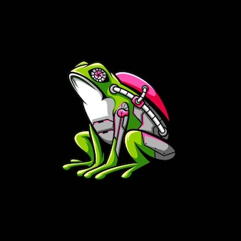 Projekt ilustracja maskotka żaba