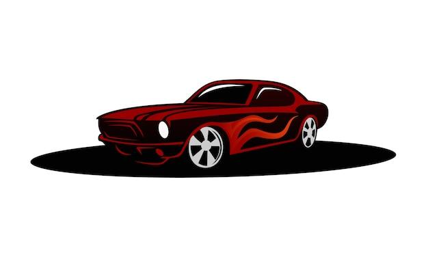 Projekt ilustracja wektor samochód mięśni