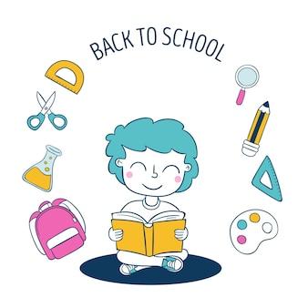 Projekt ilustracja z powrotem do szkoły