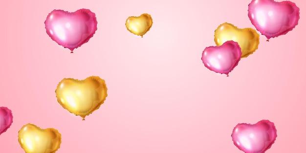 Projekt ilustracji balony serca