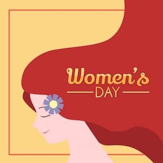 Projekt ilustracji dzień kobiet
