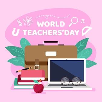 Projekt ilustracji dzień nauczyciela