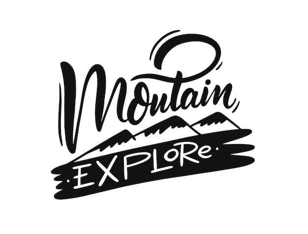 Projekt ilustracji eksploracji górskiej