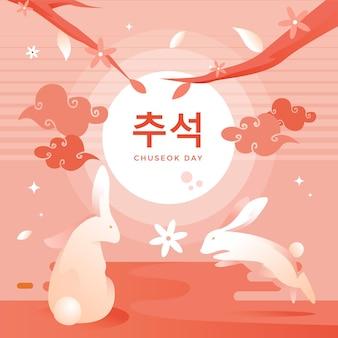 Projekt ilustracji festiwalu chuseok