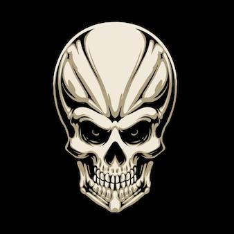 Projekt ilustracji głowy czaszki