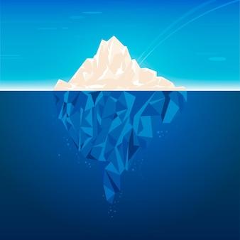 Projekt ilustracji góry lodowej