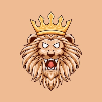 Projekt ilustracji króla lwa