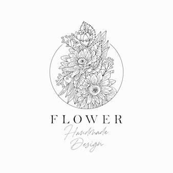 Projekt ilustracji kwiatowej