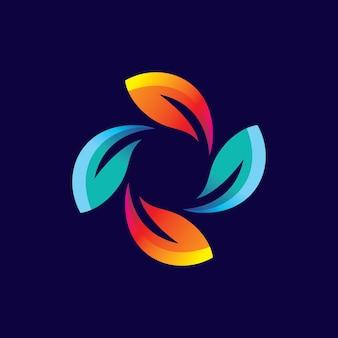 Projekt ilustracji logo liści
