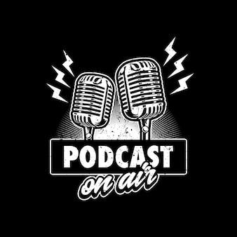 Projekt ilustracji logo podcastu