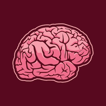 Projekt ilustracji mózgu