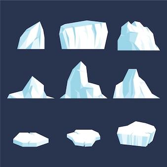 Projekt ilustracji paczki góry lodowej