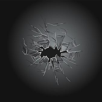 Projekt ilustracji potłuczonego szkła