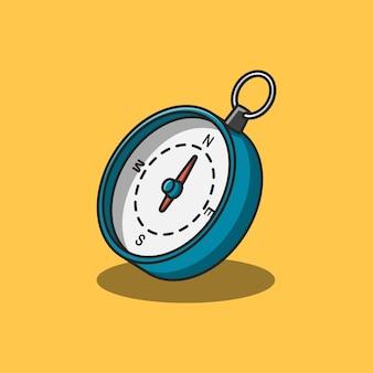 Projekt ilustracji ręcznego kompasu dla wskazówek