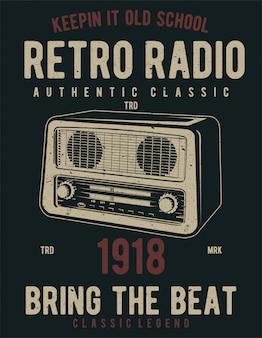 Projekt ilustracji retro radio