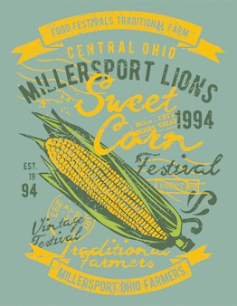 Projekt ilustracji słodkiej kukurydzy