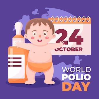Projekt ilustracji tła na światowy dzień polio