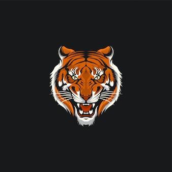 Projekt ilustracji twarzy tygrysa