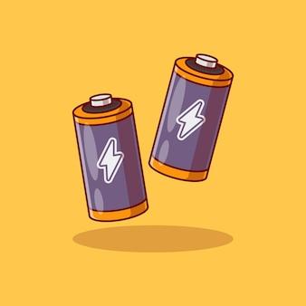 Projekt ilustracji wektorowych z dwoma akumulatorami