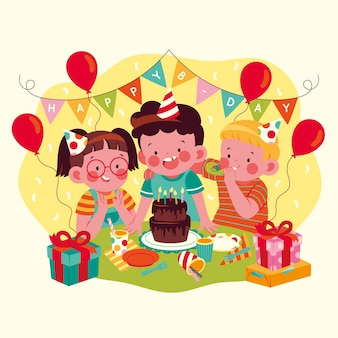 Projekt ilustracji z okazji urodzin