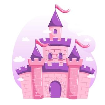 Projekt ilustracji z zamkiem