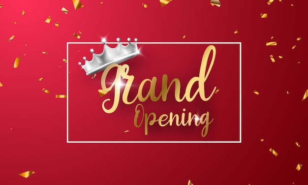 Projekt imprezy z okazji wielkiego otwarcia. luksus