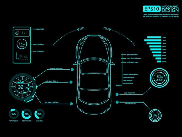 Projekt infografiki auto serwis samochodowy