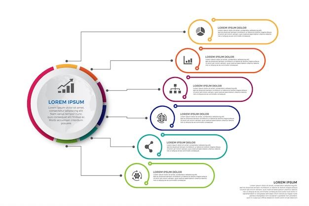 Projekt infografiki kolorowy oś czasu
