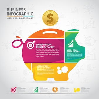 Projekt infografiki nowoczesny biznes