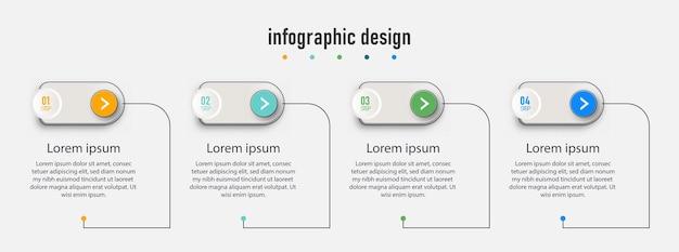 Projekt infografiki osi czasu z okręgiem dla szablonu biznesowego