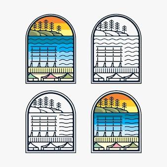Projekt inspiracji logo rynku łonowego pike