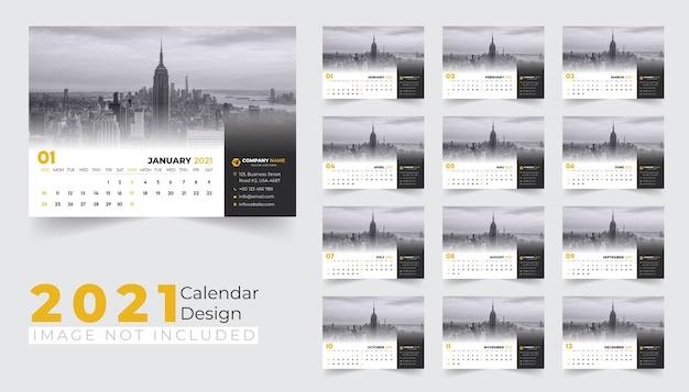 Projekt kalendarza biurkowego na 2021 rok
