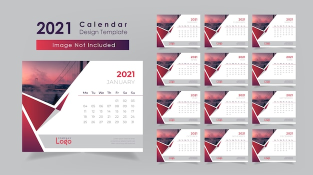 Projekt kalendarza biurkowego