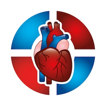 Projekt kardiologii na białym tle ilustracji wektorowych
